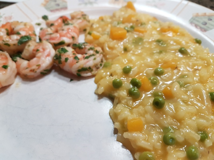 Lemon Shrimp with Risotto Milanese